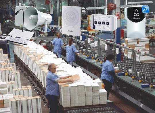 Harmonys PA system in factories