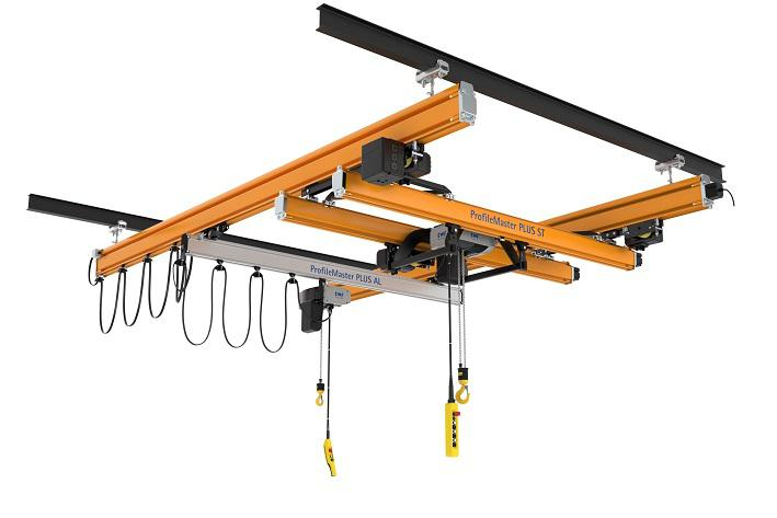 ProfileMaster PLUS light crane system for loads up to 2 t.