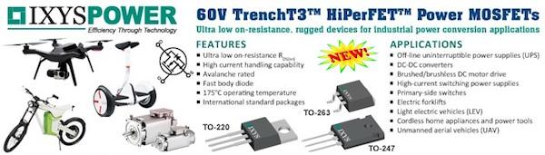IXYS 60V TrenchT3 HiPerFET Power MOSFET