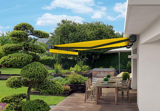 New markilux service: Awnings are now available with the fabric in the customer's favourite colour