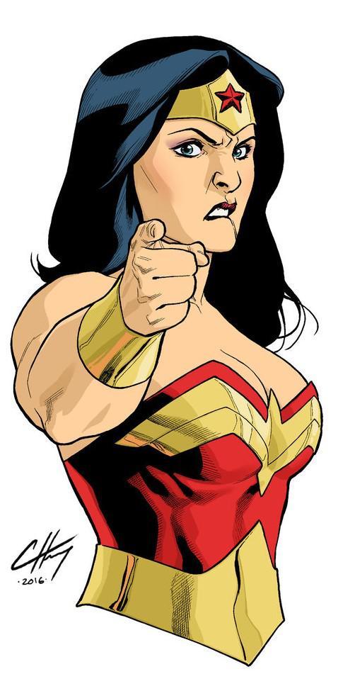 """Wonder Woman WIP"" by Clayton Henry"