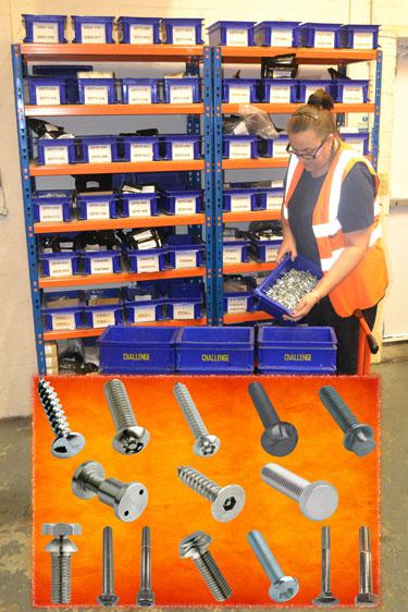 Challenge Europe fulfil the fastener sourcing and supply chain requirements of the manufacturing cycle