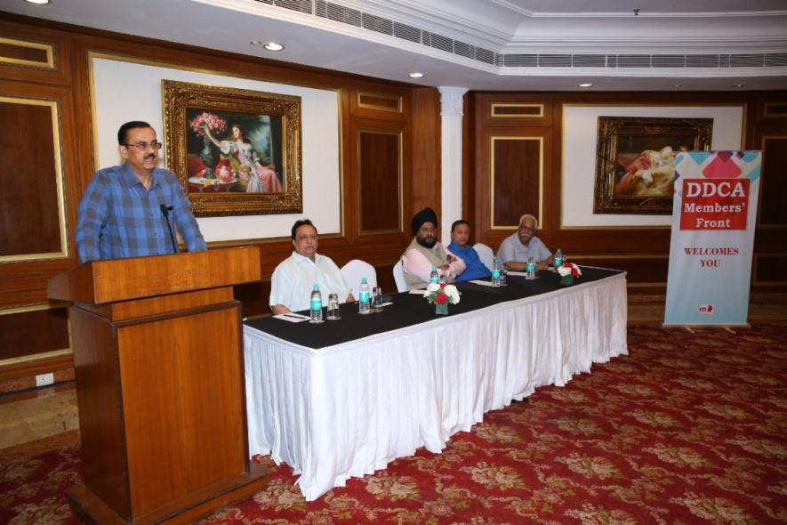 Mr. Vikas Singh addressing the Media