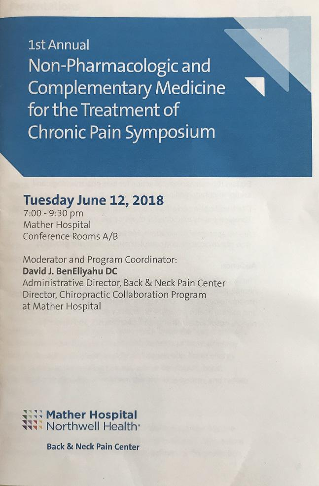 Dr. Rubenstein expert presenter at inter-disciplinary Non-Pharmacological Pain Symposium