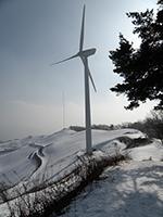 Wind farm in Daegilee, South Korea