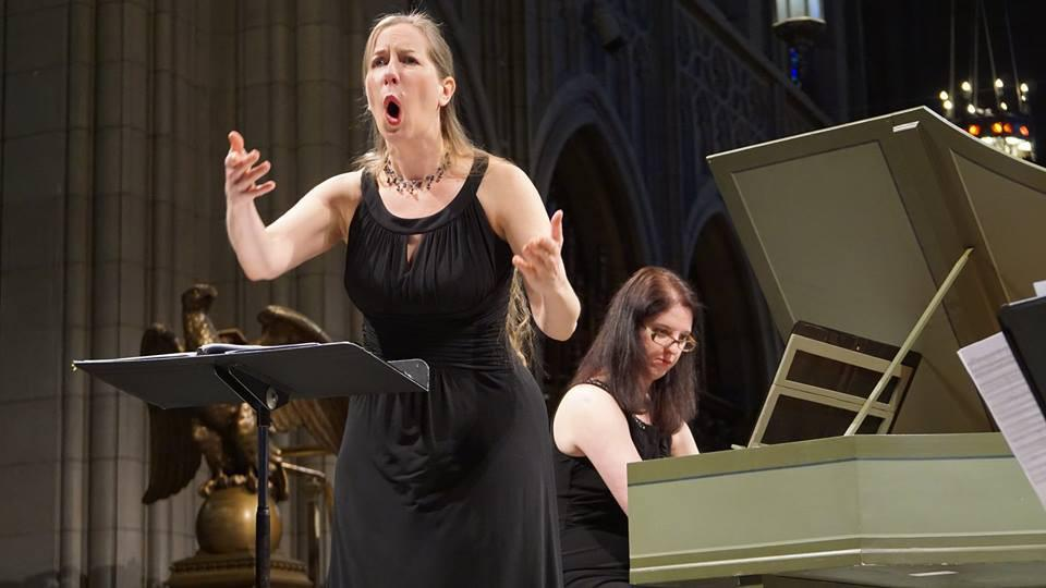 Malina Rauschenfels and Paula Maust perform at Trinity Cathedral in Cleveland, Ohio