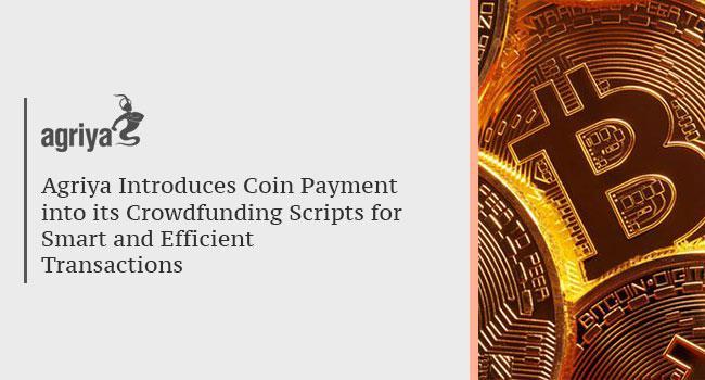 Agriya Introduces Coin Payments