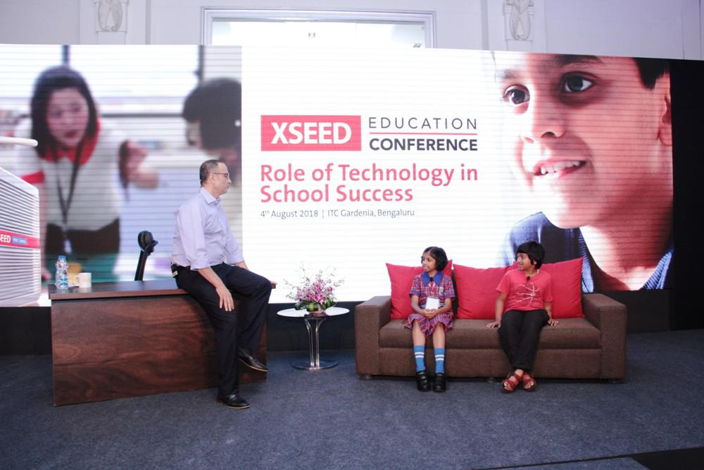 Ashish Rajpal, CEO & Founder XSEED, in conversation with students at the XSEED Education Conference - Copy