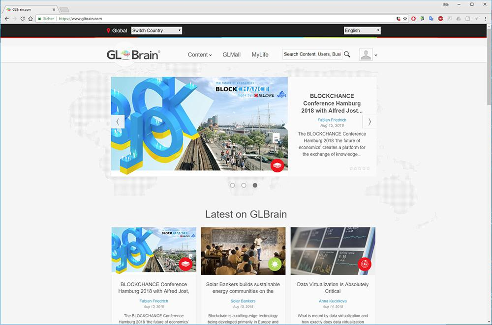 GLBrain - Facebook made in Europe - Blockchain based, secure