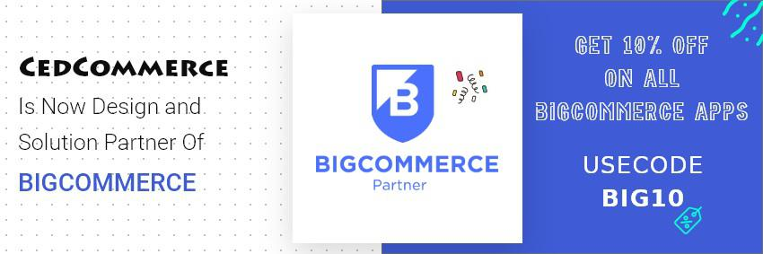 Bigcommerce named CedCommerce as their Official Design