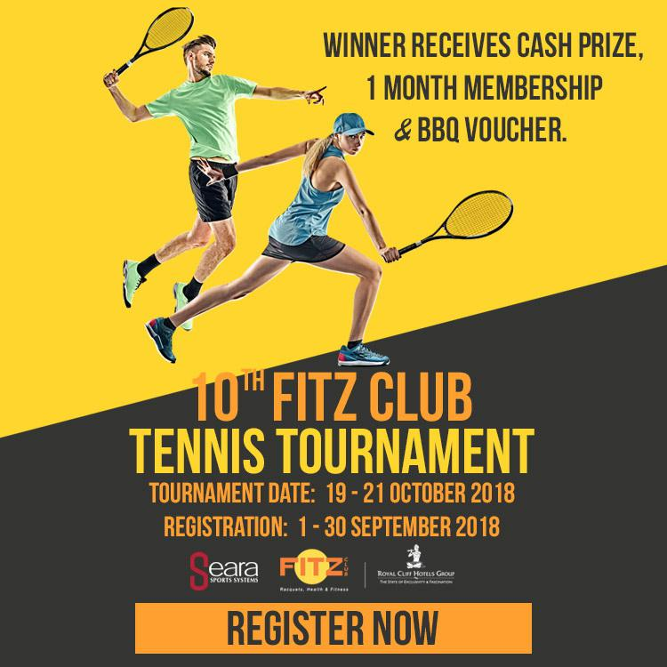 Invitation to Popular 10th Fitz Club Tennis Tournament on 19-21