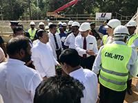 The President of Sri Lanka at the groundbreaking ceremony for the Kaluganga - Moragahakanda Transfer Canal
