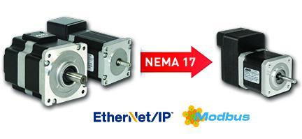 AMCI's SMD Series integrated stepper motor, drive, controller - NEMA 17-34