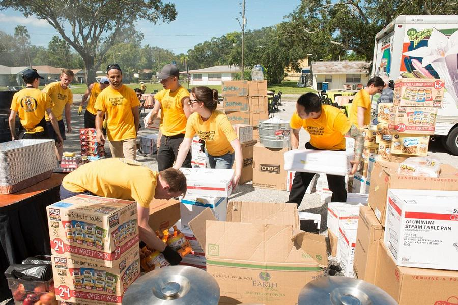 Scientology Volunteer Ministers in action after Hurricane Irma