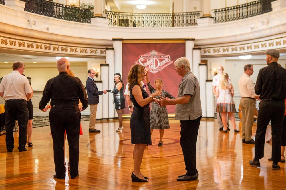 Guests to the Charity Swing Dance learn East Coast Swing