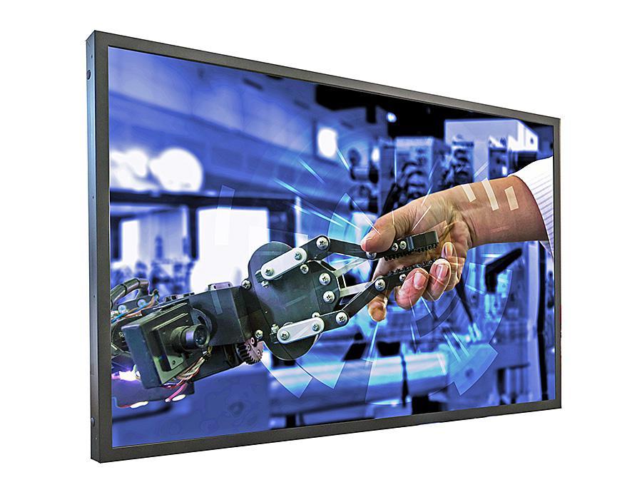 "Distec presents UHD POS-Line monitor Brilan 4k 75"" for industrial use"