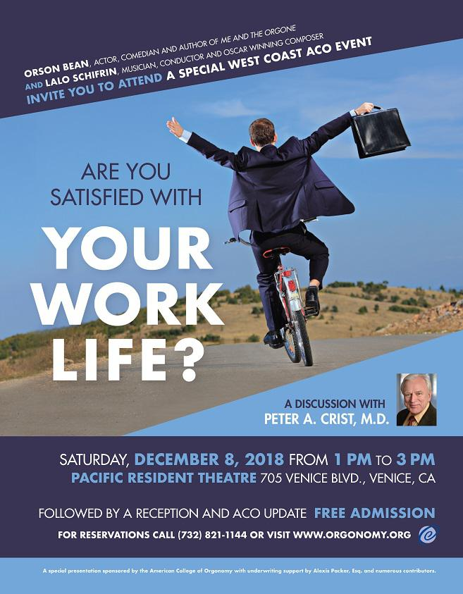 Are You Satisfied with Your Work Life?