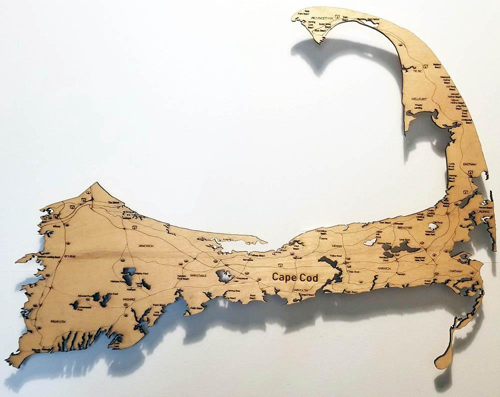 Floating Map of Cape Cod