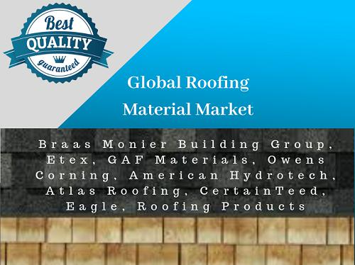 Global Roofing Material Market Driven At Steady CAGR with Rising