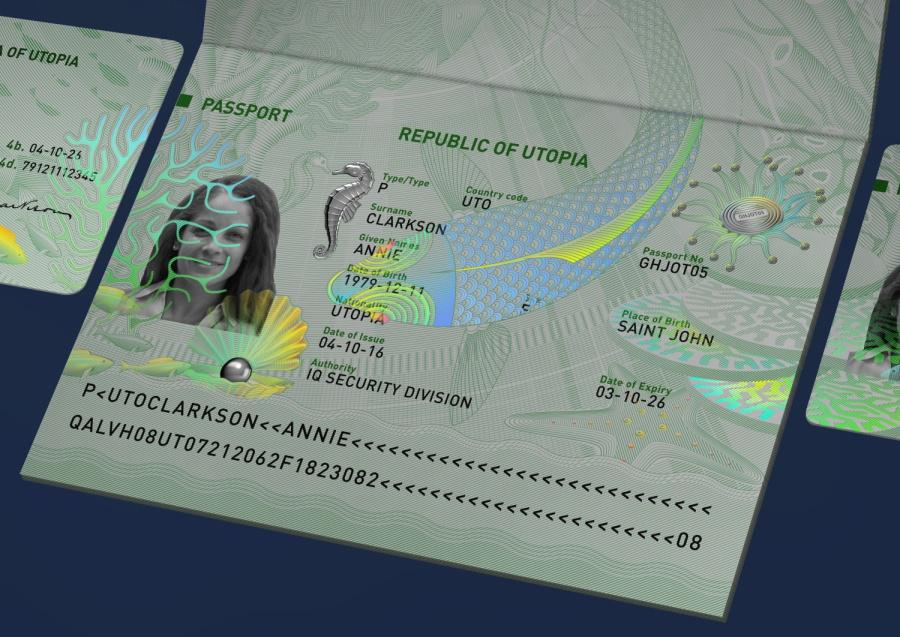 Security graphics and holograms are integrated - new solution by IQ Structures