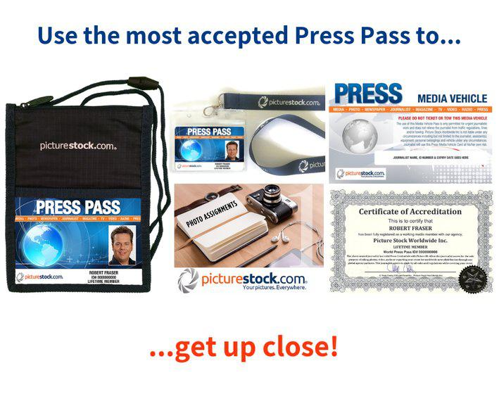 Use A Press Pass To Get Into Sports and Concerts To Take Pictures
