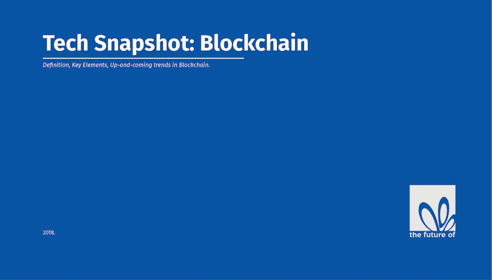 Tech Snapshot: Blockchain