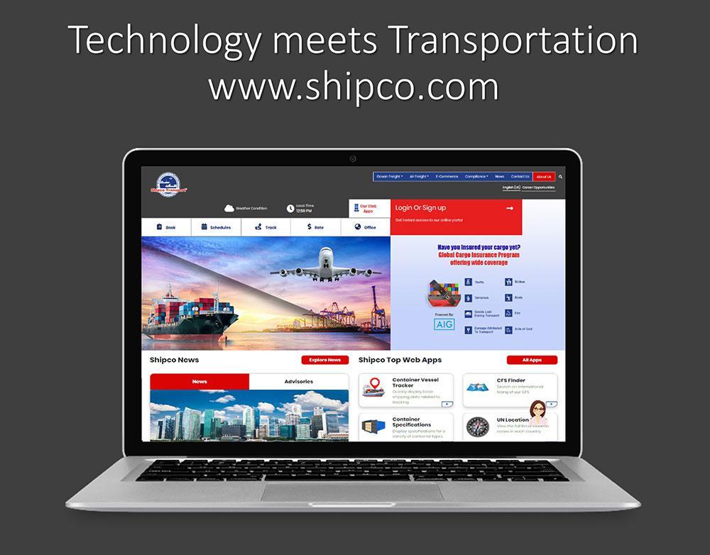 New Shipco Transport Website