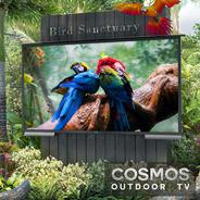 Cosmos Outdoor TV installed in a bird sanctuary