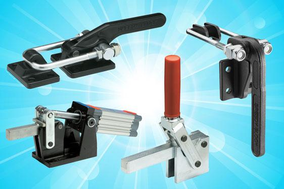 Manual latch and toggle clamps from Elesa UK