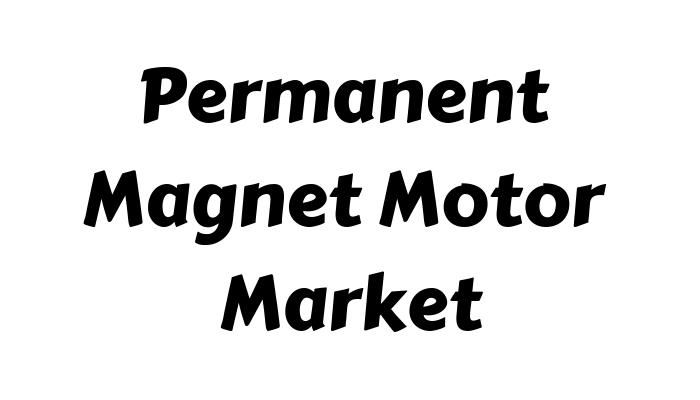 Permanent Magnet Motor Market: Current market conditions and