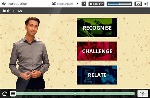 A screen from one of Engage in Learning's Unconscious Bias e-learning courses.