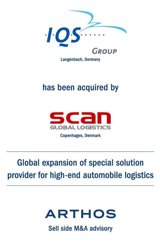 ARTHOS advises IQS Group on its sale to Scan Global Logistics