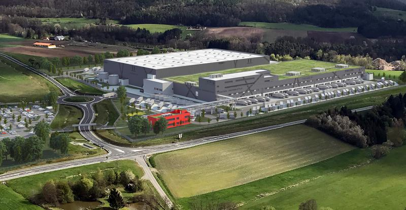 3D image of the planned multi-channel central warehouse at Geiselwind (Source: Dietz AG/ Phase 5 GmbH)