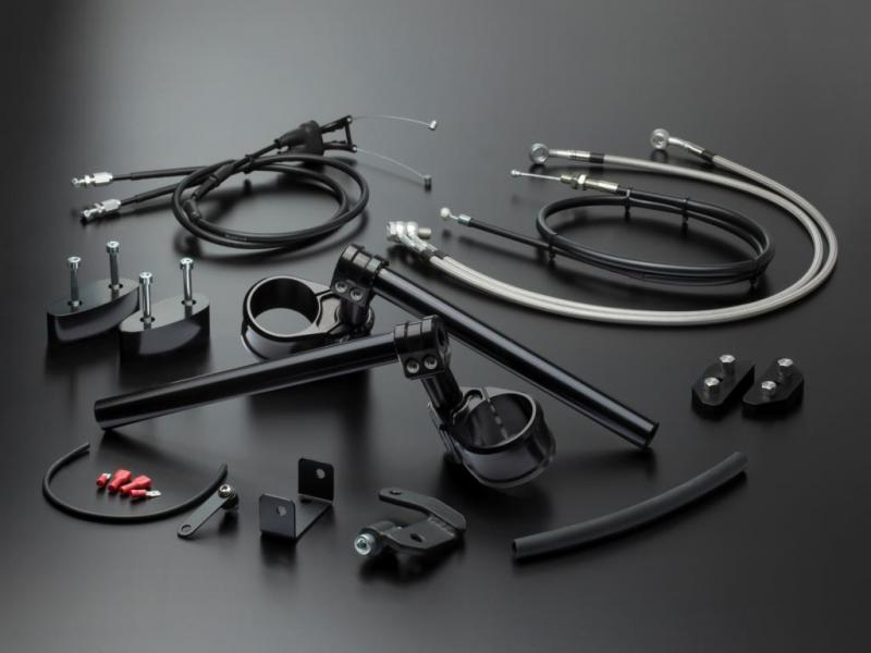 Optimised seating position by practical multiClip kits for many motorcycle models