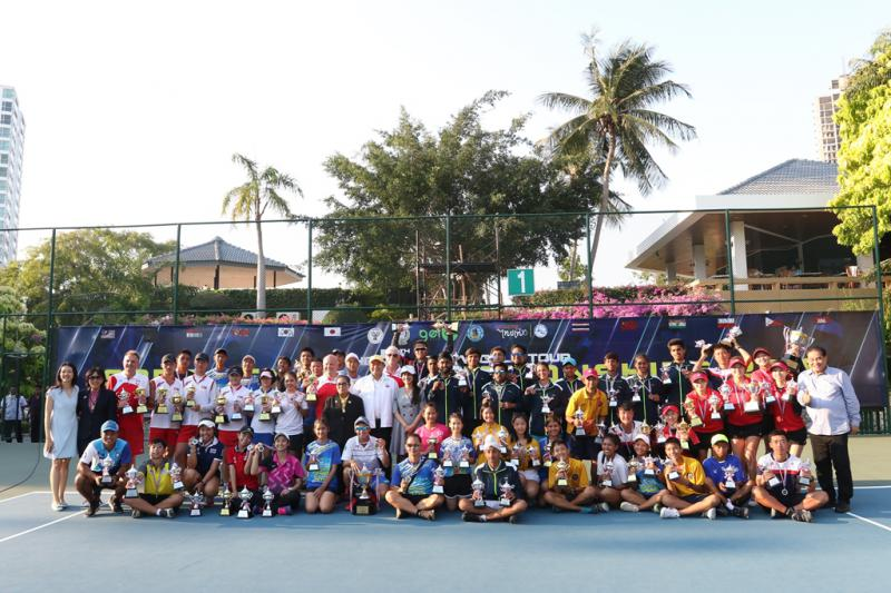 Competitive tennis players from 10 countries participated in the 5th AGEL World Tour Soft Tennis Championship 2019.