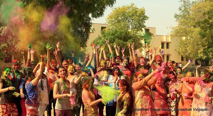 Banasthali Celebrates Basant Utsav Holi with a Riot of Vibrant Colours