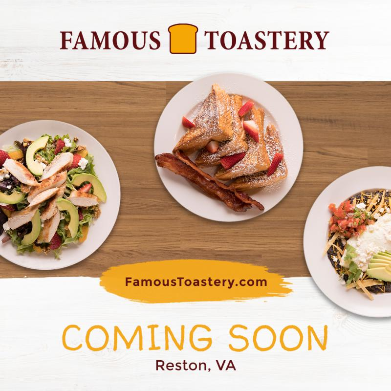 To learn more about Famous Toastery and their locations, please visit. www.famoustoastery.com.