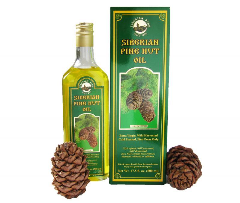SiberianPineNutOil.org Extra Virgin, Cold Pressed Pine Nut Oil