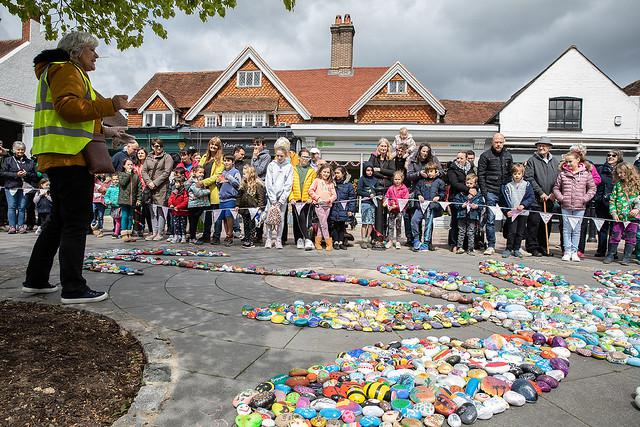 England's largest village rocks into the record books with painted pebble display