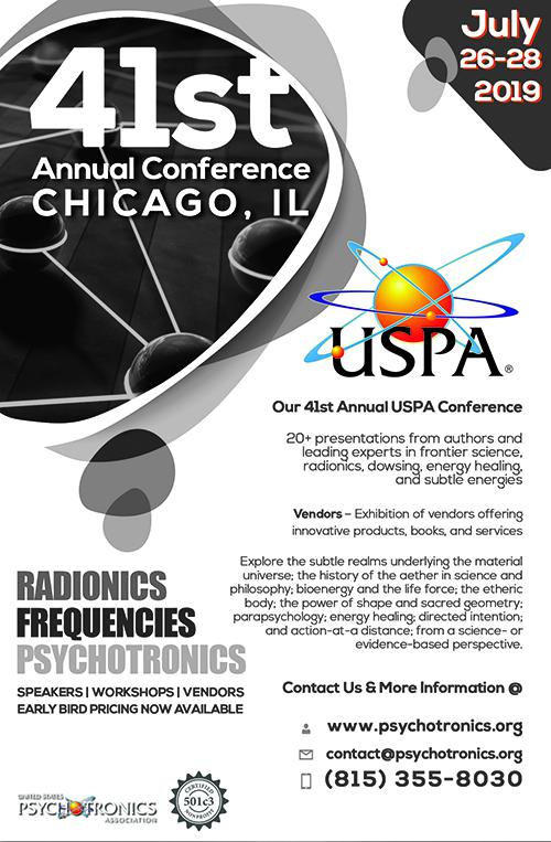 """United States Psychotronics Association (USPA) Announces Their 41st Annual Conference """"The Art & Science of Energy Healing?"""