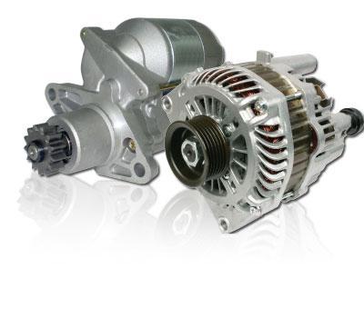 Automotive Alternator and Starter Motor