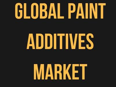 Global Paint Additives Market Market trends, and revenue analysis
