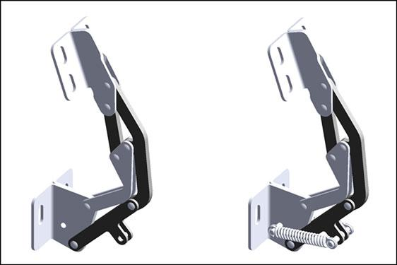 Sprung and unsprung concealed PINET hinges available from FDB Panel Fittings