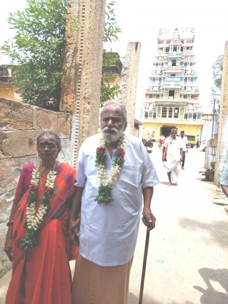 Halasyam Chellammal Madurai Celebrate Milestone Diamond Jubilee Wedding Anniversary