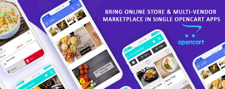 Get full fledged mobile apps for your opencart website & marketplace