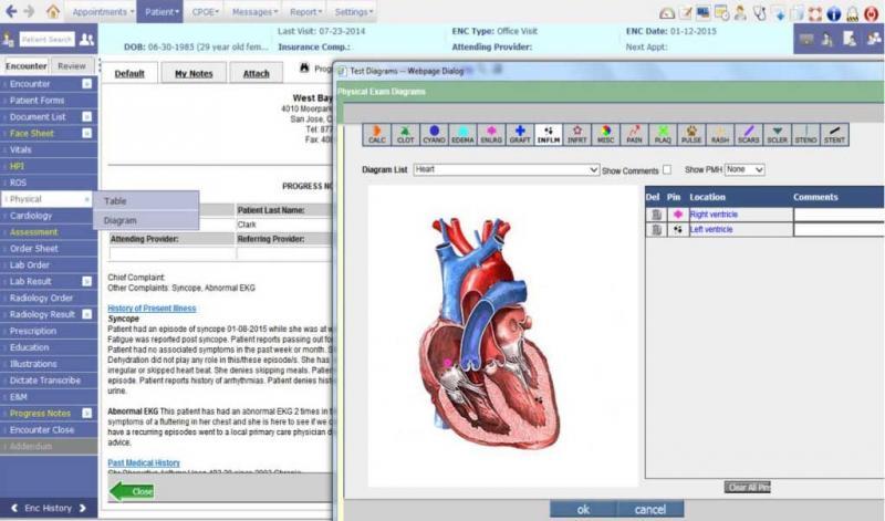心臓病学ソフトウェアの画像結果