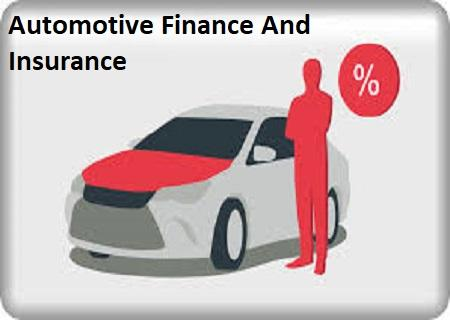 Automotive Finance And Insurance