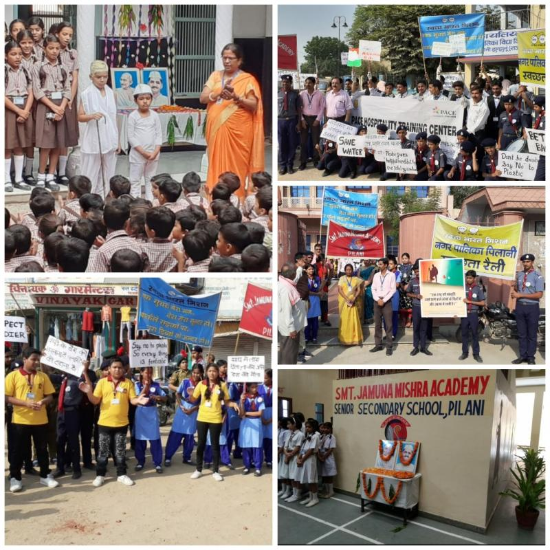 JMA Pilani Celebrates Mahatma Gandhi 150 Jayanti International Day of Non-Violence