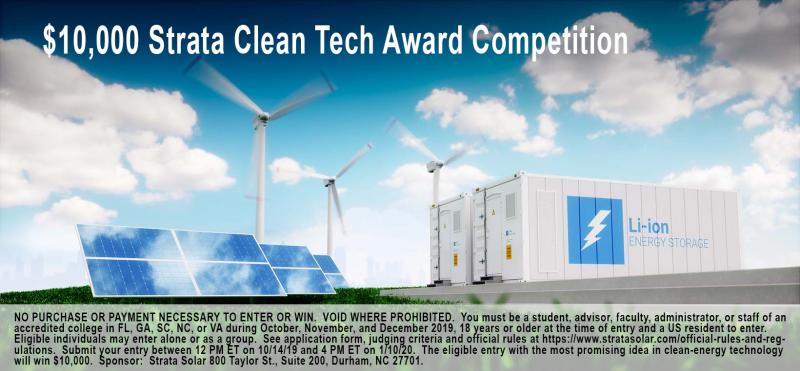 FIRST ANNUAL $10,000 CLEAN TECH AWARD COMPETITION LAUNCHED