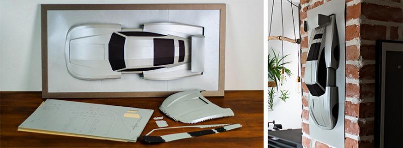 DIY Papersculptures of Legendery Cars